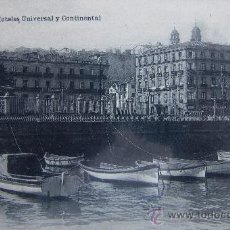Postales: VIGO: PONTEVEDRA. HOTELES UNIVERSAL Y CONTINENTAL. EUGENIO B. TETILLA.FOT.HAUSER Y MENET. AÑOS 10. Lote 25038886