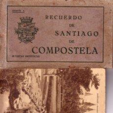 Postales: CARNET POSTAL RECUERDO DE SANTIAGO DE COMPOSTELA. SERIE A. 20 VISTAS ARTISTICAS . Lote 98061307