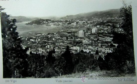 VIGO: PONTEVEDRA. VISTA PARCIAL. ED. ARRIBAS. AÑOS 50 (Postales - España - Galicia Moderna (desde 1940))