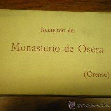 Postales: ALBUM BLOCK RECUERDO DEL MONASTERIO DE OSERA ORENSE CON 21 TARJETAS POSTALES POSTAL. Lote 25456360