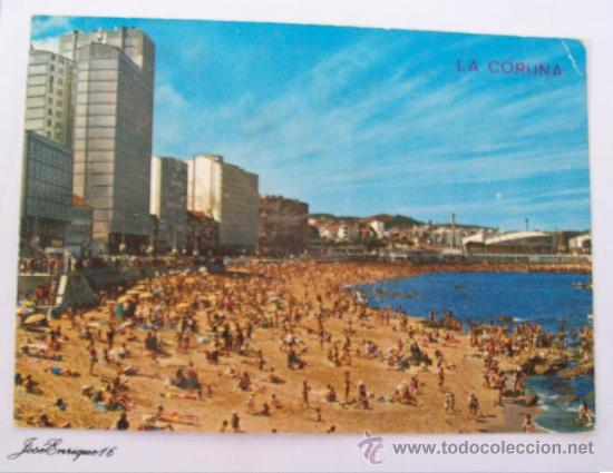 LA CORUÑA, PLAYA DEL RIAZOR, PLAGE, BEACH. ARRIBAS N° 162 (Postales - España - Galicia Moderna (desde 1940))