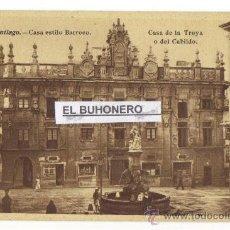 Postales: SANTIAGO -CASA DE LA TROYA O DEL CABILDO - CASA DE ESTILO BARROCO. Lote 27080979