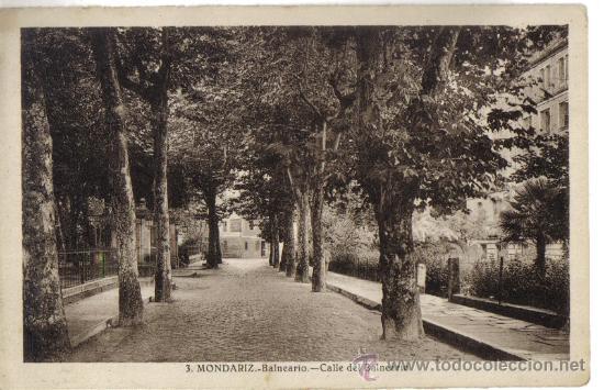 MONDARIZ (PONTEVEDRA) BALNEARIO, CALLE DEL BALNEARIO, L. ROISIN Nº 3 (Postales - España - Galicia Antigua (hasta 1939))