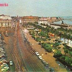 Postales: LA CORUÑA.AVENIDA DE LOS CANTONES.JARDINES DE MENDEZ NUÑEZ. Lote 25613335