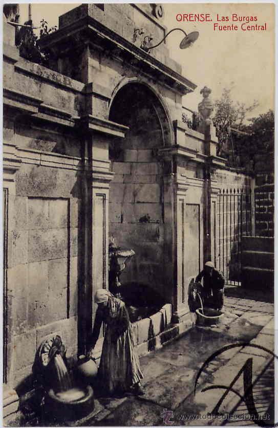 ORENSE. LA BURGAS. FUENTE CENTRAL (Postales - España - Galicia Antigua (hasta 1939))