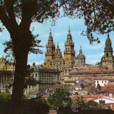 Postales: SANTIAGO DE COMPOSTELA Nº 2080 LA CATEDRAL DESDE EL PASEO DE LA HERRADURA EDICIONES ARRIBAS. Lote 25790812