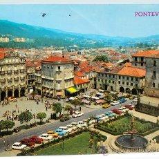 Postales: POSTAL PONTEVEDRA PLAZA DE ORENSE Y HERRERÍA ED PARÍS AÑOS 80 CIRCULADA. Lote 25949450