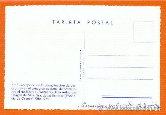 Postales: PEREGRINACION PESCADORES RIO BIBEY Y SANTUARIO DE LAS ERMITAS DE ORENSE Nº 3 - 1954 SIN CIRCULAR - Foto 2 - 26110097