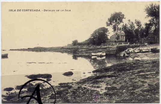 ISLA DE CORTEGADA.DETALLE DE LA ISLA. (Postales - España - Galicia Antigua (hasta 1939))