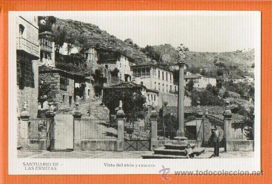 SANTUARIO DE LAS ERMITAS ORENSE - VISTA DEL ATRIO Y CRUCERO - FOTO GUILERA SIN CIRCULAR (Postales - España - Galicia Moderna (desde 1940))