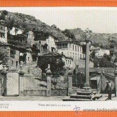 Postales: SANTUARIO DE LAS ERMITAS ORENSE - VISTA DEL ATRIO Y CRUCERO - FOTO GUILERA SIN CIRCULAR. Lote 27145079