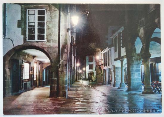 SANTIAGO DE COMPOSTELA. RUA DEL VILLAR. NOCTURNA. (Postales - España - Galicia Moderna (desde 1940))