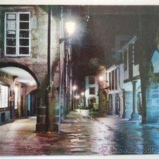 Postales: SANTIAGO DE COMPOSTELA. RUA DEL VILLAR. NOCTURNA.. Lote 26561741