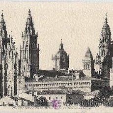 Postales: POSTAL SANTIAGO DE COMPOSTELA. 105.- CATEDRAL - LAS TORRES. L. ROISIN. Lote 26617136