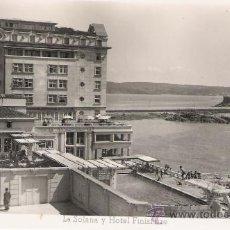 Postales: LA CORUÑA-LA SOLANA Y HOTEL FINISTERRE-ED.ARRIBAS-SIN CIRCULAR-. Lote 27211875