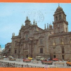 Postales: CELANOVA - ORENSE - FACHADA MONASTERIO SAN ROSENDO - Nº 4484 LIBRERIA FOLLAS NOVAS - AÑO 1982. Lote 27306300