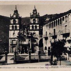 Postales: LAS ERMITAS (ORENSE).- FACHADA DEL SANTUARIO Y CASA ADMINISTRACIÓN. Lote 27756038