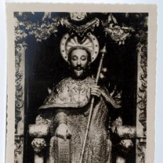 Postales: POSTAL Nº 7 SANTIAGO CATEDRAL EFIGIE PETREA DEL APOSTOL AÑOS 40 50. Lote 27896030