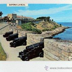 Postales: POSTAL BAYONA LA REAL PONTEVEDRA MURALLAS Y PARADOR NACIONAL CONDE DE GONDOMAR. Lote 27934052