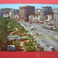 Cartes Postales: POSTAL. LA CORUÑA. PASEO DE MÉNDEZ NÚÑEZ Y CANTÓN GRANDE. Lote 28300235