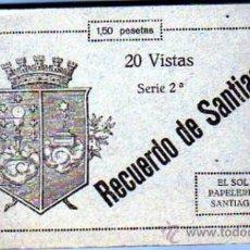 Postales: LA CORUÑA. RECUERDO DE SANTIAGO 20 VISTAS. EL SOL PAPELERIA. BLOCK 2ª SERIE. CONTIEN 18 POSTALES.. Lote 28306577
