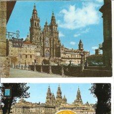 Postales: DOS POSTALES DE SANTIAGO DE COMPOSTELA. Lote 28428735
