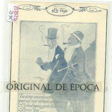 Postales: (PS-23832)POSTAL PUBLICITARIA DE JABON LA TOJA. Lote 28436948