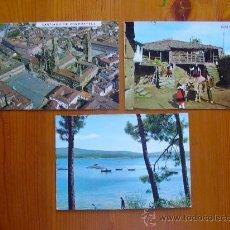 Postales: LOTE DE 3 POSTALES DE LA TOJA (PONTEVEDRA), GALICIA TÍPICA Y SANTIAGO DE COMPOSTELA NUEVAS. AÑOS 70. Lote 28510679
