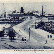 Postales: VIGO. Nº8. EL CORREO DE AMERICA EN EL MUELLE. L. ROISIN. CIRCULADA.. Lote 28672297