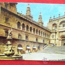 Postales: SANTIAGO DE COMPOSTELA - PLAZA DE LAS PLATERIAS. Lote 29056669