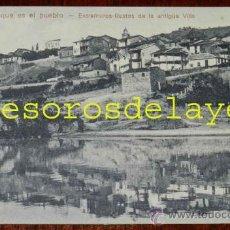 Postales: ANTIGUA POSTAL DE RIBADAVIA (ORENSE) QUE ES EL PUEBLO, EXTRAMUROS RETOS DE LA ANTIGUA VILLA - EDICIO. Lote 29279615