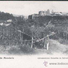 Postales: AGUAS DE MONDARIZ (PONTEVEDRA).- ALREDEDORES- ESTACIÓN DE SALVATIERRA. Lote 29499665