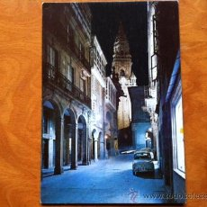 Postales: SANTIAGO DE COMPOSTELA , RUA DEL VILLAR NOCTURNA , EDICIONES ARRIBAS Nº 2070. Lote 29685023