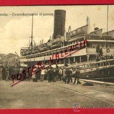 Cartes Postales: POSTAL, LA CORUÑA, DESEMBARCANDO EL PASAJE, P65818. Lote 29911626