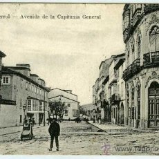 Postales: POSTAL FERROL AVENIDA DE LA CAPITANIA GENERAL. Lote 30041281