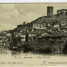 Postales: POSTAL MONFORTE DE LEMOS LUGO VISTA PARCIAL. Lote 30102667