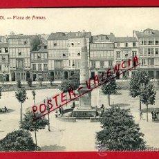 Cartes Postales: POSTAL, CORUÑA , FERROL , PLAZA ARMAS ,NOVES Y COUCE ,ORIGINAL , P66854. Lote 30113007