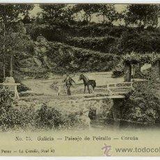 Postales: POSTAL LA CORUÑA PAISAJE DE PEIRALLO. Lote 30113317