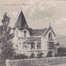 Postales: RARA TARJETA POSTAL UNA QUINTA EN OLEIROS EDICION CP CORUÑA CIRCULADA 1913 A PARIS Y TASADA FRANCIA.. Lote 30183475