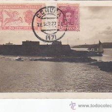 Postales: AÑO 1927: LA CORUÑA: CASTILLO DE SAN ANTON. BONITA Y RARA TARJETA POSTAL CON FRANQUEO URGENTE.. Lote 30183607