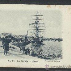 Postales: LA CORUÑA - 27 - GARAS - FOT. J. GONZALEZ -LIB- LINO PEREZ- (8608) . Lote 30217298