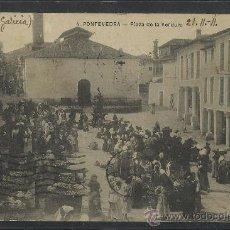 Postales: PONTEVEDRA - 4 - PLAZA DE LA VERDURA - MERCADO - (8615). Lote 30217455