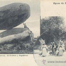 Postales: RARA POSTAL DE AGUAS DE MONDARIZ 1907 - ALREDEDORES - EL DOLMEN - SEGADORAS - MADRID POSTAL. Lote 30372135