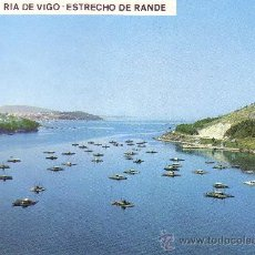 Postales: PONTEVEDRA - VIGO - RIA - ESTRECHO DE RANDE. Lote 30408153