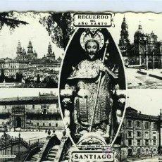 Postales: POSTAL SANTIAGO DE COMPOSTELA RECUERDO DEL AÑO SANTO. Lote 30837667