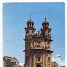 Postales: PONTEVEDRA. IGLESIA DE LA PEREGRINA. CON GUARDIA DE TRÁFICO, POLICÍA LOCAL. FOTO CAMPAÑÁ. Lote 30856535