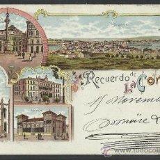 Postcards - recuerdo de la coruña - LIBRERIA LINO PEREZ - (9567) - 30889492