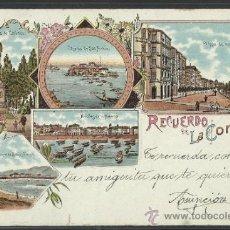 Postales: RECUERDO DE LA CORUÑA - LIBRERIA LINO PEREZ - (9568). Lote 30889501