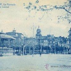 Postales: POSTAL AÑOS 10 DE ORENSE - OURENSE - GALICIA - LA ALAMEDA PASEO CENTRAL - THOMAS. Lote 31536463