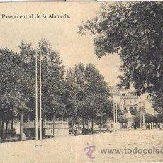 Postales: POSTAL DEL PASEO CENTRAL DE ALAMEDA DE ORENSE - OURENSE - LA REGION. Lote 31536748